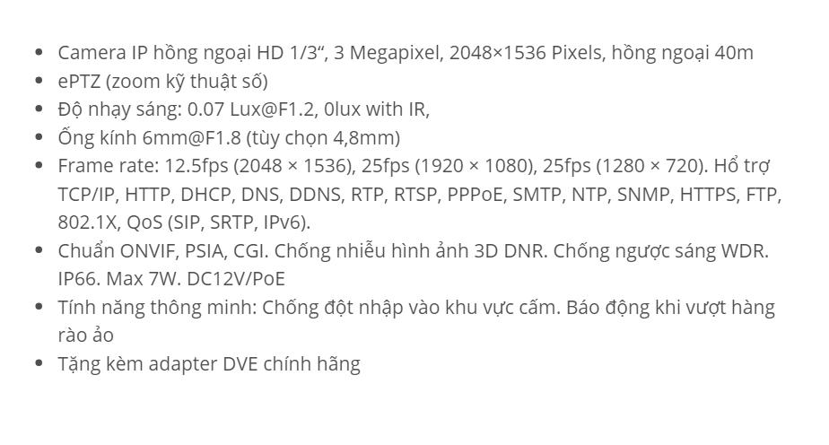 HDS-2332IRP3 (IP 3 M)