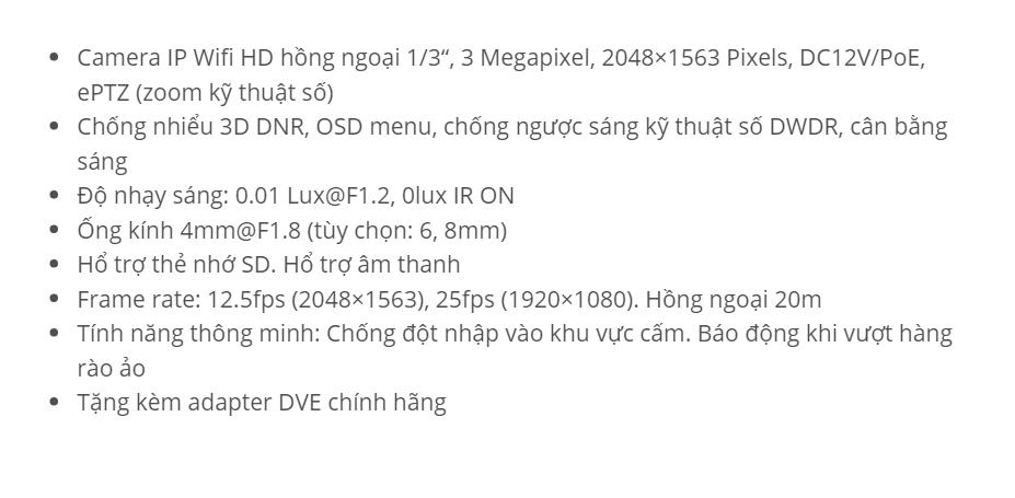 HDS-2432IRPW (3M Wifi)