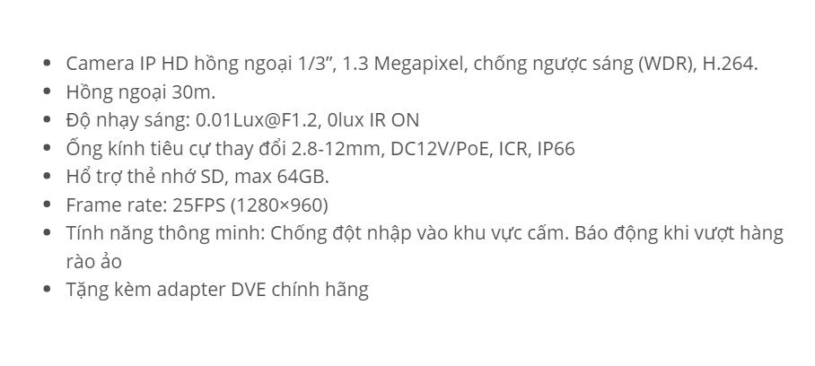 HDS-2612VF-IR3 (IP 1.3M)