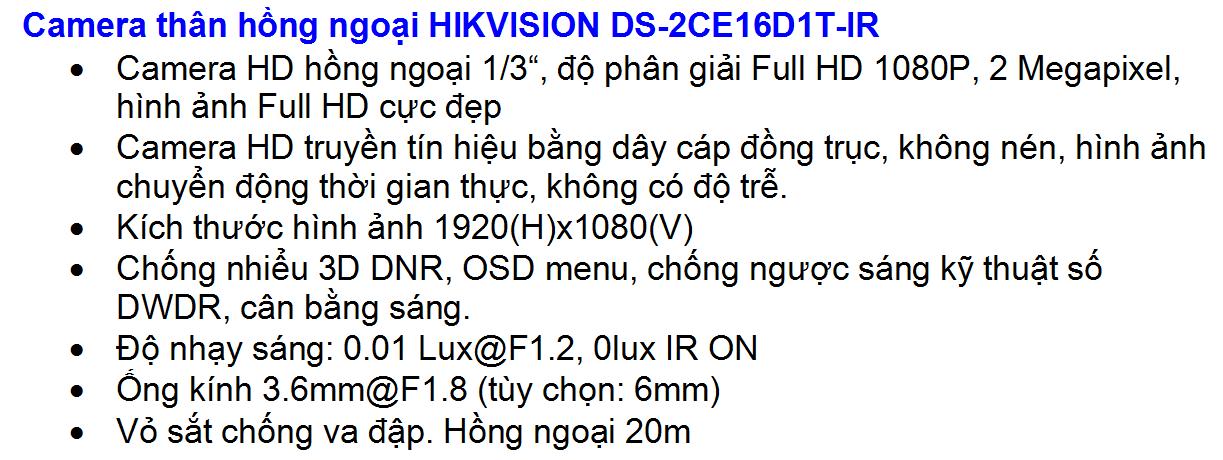 DS-2CE16D1T-IR