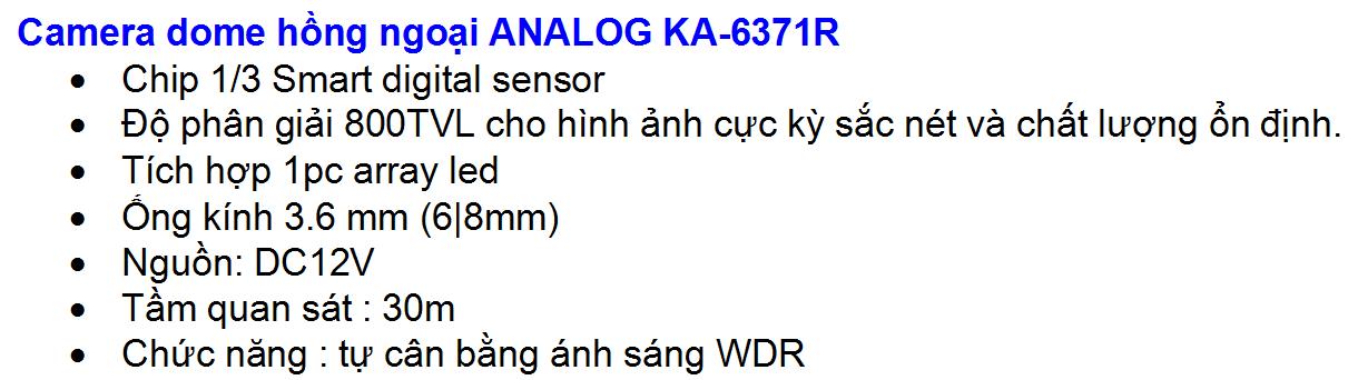 KA-6771 800TVL