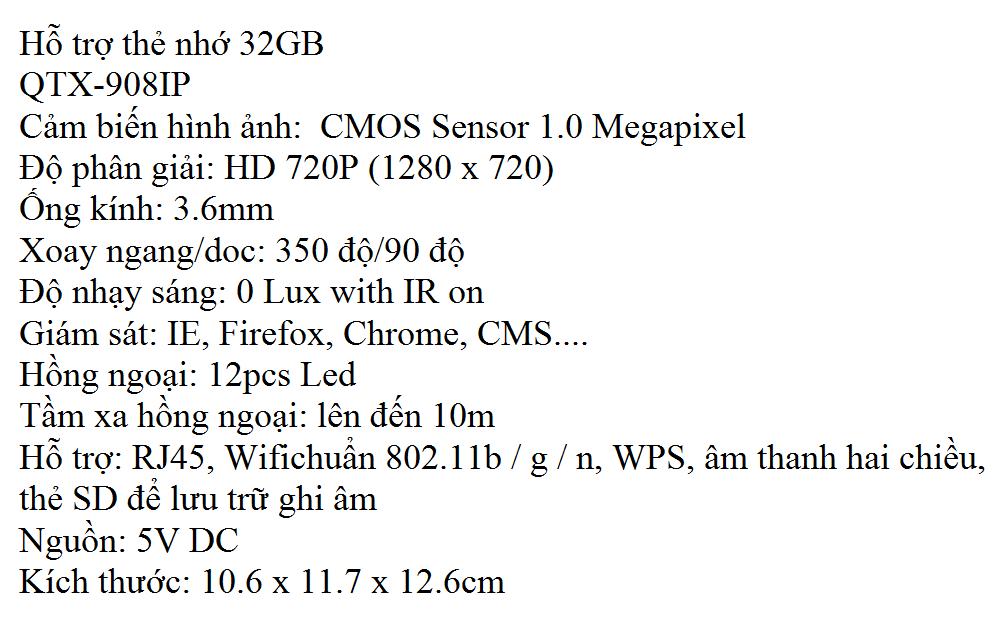 QTX 908IP 1
