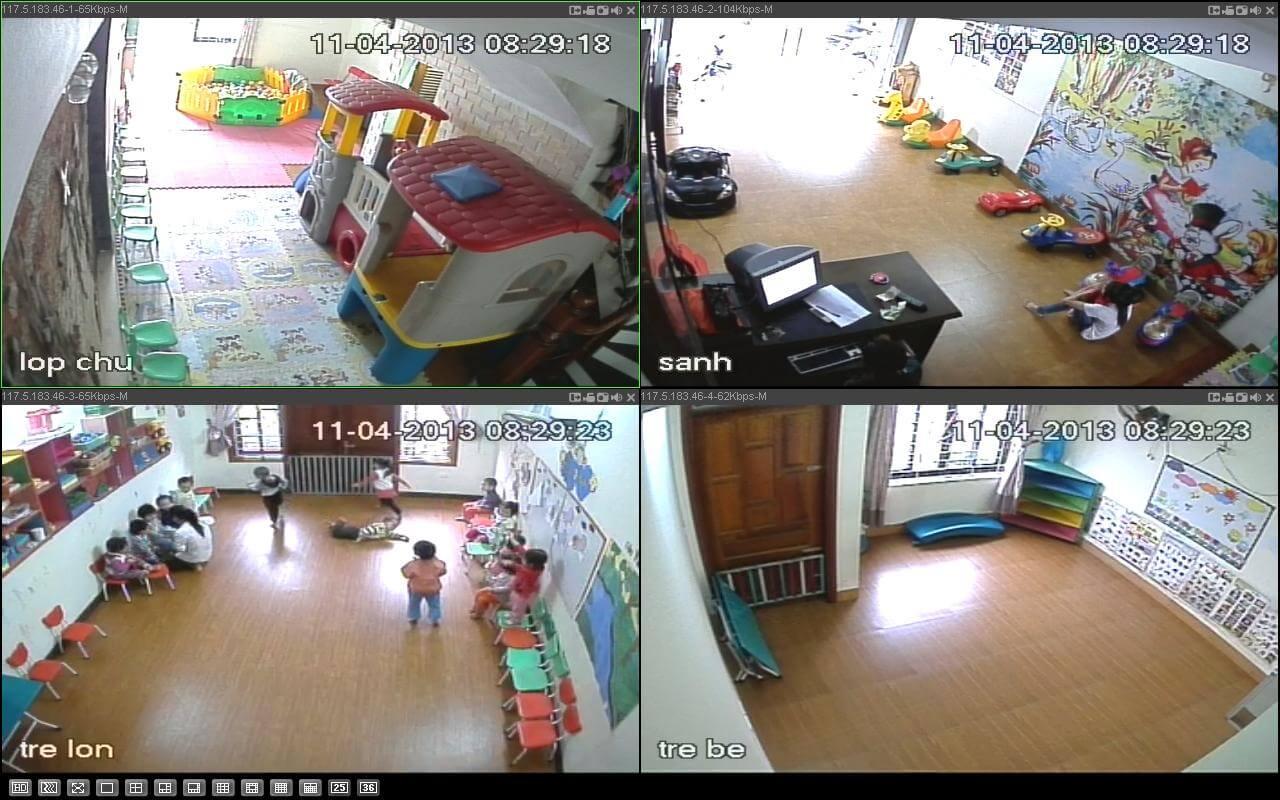Mô hình giải pháp camera giám sát trường mầm non