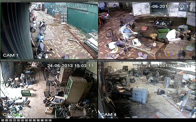 Lắp đặt camera quan sát nhà xưởng