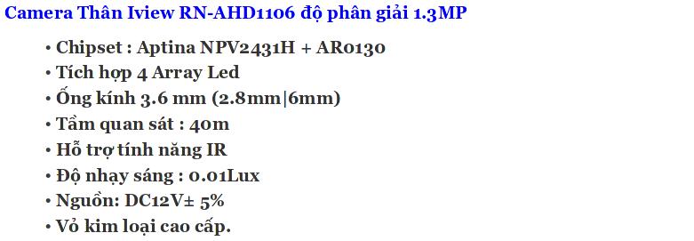 Bo iview RN-AHD1106 13mp
