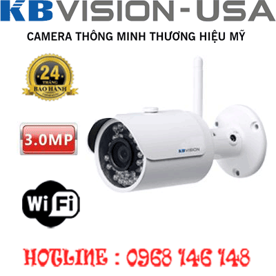 TRỌN BỘ 1 CAMERA WIFI 3.0MP KBVISION KX-3001WN-KX-3001WN