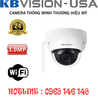 TRỌN BỘ 1 CAMERA WIFI 3.0MP KBVISION KX-3002WN-KX-3002WN