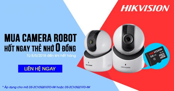 Mua camera Robot Hikvision tặng thẻ nhớ 32GB
