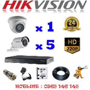 Lắp Đặt Trọn Bộ 6 Camera Hikvision 1.0Mp (Hik-11152)-HIK-11152