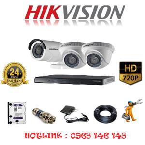 Lắp Đặt Trọn Bộ 3 Camera Hikvision 1.0Mp (Hik-12112)-HIK-12112