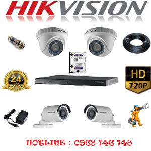Lắp Đặt Trọn Bộ 4 Camera Hikvision 1.0Mp (Hik-12122)-HIK-12122