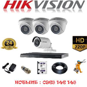 Trọn Bộ 4 Camera Hikvision 1.0Mp (Hik-13112)-HIK-13112
