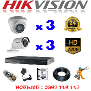 Lắp Đặt Trọn Bộ 6 Camera Hikvision 1.0Mp (Hik-13132)-HIK-13132