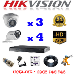Lắp Đặt Trọn Bộ 7 Camera Hikvision 1.0Mp (Hik-13142)-HIK-13142
