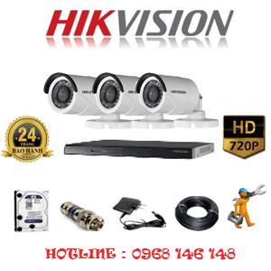 Lắp Đặt Trọn Bộ 3 Camera Hikvision 1.0Mp (Hik-13200)-HIK-13200