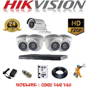 Lắp Đặt Trọn Bộ 5 Camera Hikvision 1.0Mp (Hik-14112)-HIK-14112