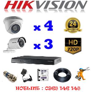 Trọn Bộ 7 Camera Hikvision 1.0Mp (Hik-14132)-HIK-14132