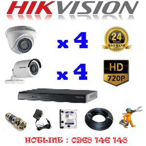 Lắp Đặt Trọn Bộ 8 Camera Hikvision 1.0Mp (Hik-14142)-HIK-14142