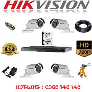 Lắp Đặt Trọn Bộ 4 Camera Hikvision 1.0Mp (Hik-14200)-HIK-14200
