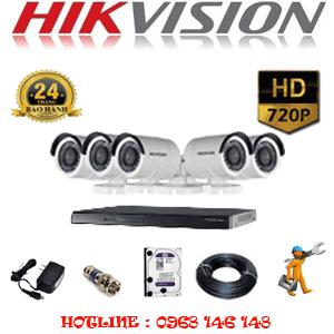 Lắp Đặt Trọn Bộ 5 Camera Hikvision 1.0Mp (Hik-15200)-HIK-15200