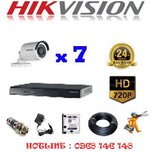 Lắp Đặt Trọn Bộ 7 Camera Hikvision 1.0Mp (Hik-17200)-HIK-17200