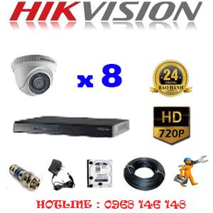 Trọn Bộ 8 Camera Hikvision 1.0Mp (Hik-18100)-HIK-18100