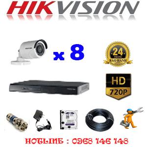 TRỌN BỘ 8 CAMERA HIKVISION 1.0MP (HIK-18200)-HIK-18200