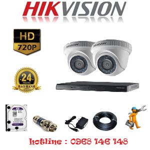 Lắp Đặt Trọn Bộ 2 Camera Hikvision 1.0Mp (Hik-12100)-HIK-212100