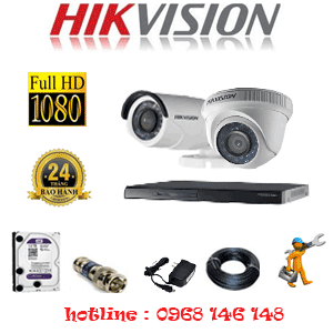 Trọn Bộ 2 Camera Hikvision 2.0Mp Lite (Hik-21314)-HIK-21314