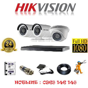 Lắp Đặt Trọn Bộ 3 Camera Hikvision 2.0Mp Lite (Hik-21324)-HIK-21324
