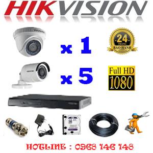Lắp Đặt Trọn Bộ 6 Camera Hikvision 2.0Mp Lite (Hik-21354)-HIK-21354