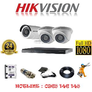 Trọn Bộ 3 Camera Hikvision 2.0Mp Lite (Hik-22314)-HIK-22314