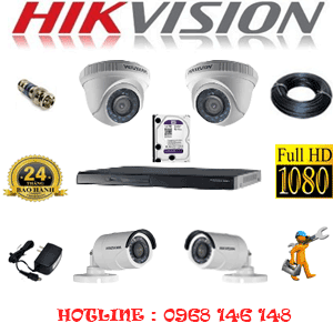 Lắp Đặt Trọn Bộ 4 Camera Hikvision 2.0Mp Lite (Hik-22324)-HIK-22324