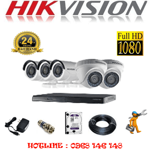 Lắp Đặt Trọn Bộ 5 Camera Hikvision 2.0Mp Lite (Hik-22334)-Hik-22334