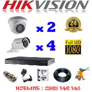 Lắp Đặt Trọn Bộ 6 Camera Hikvision 2.0Mp Lite (Hik-22344)-HIK-22344