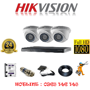 Lắp Đặt Trọn Bộ 3 Camera Hikvision 2.0Mp Lite (Hik-23300)-HIK-23300