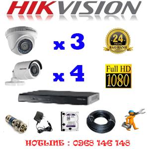 Lắp Đặt Trọn Bộ 7 Camera Hikvision 2.0Mp Lite (Hik-23344)-HIK-23344