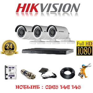 Lắp Đặt Trọn Bộ 3 Camera Hikvision 2.0Mp Lite (Hik-23400)-HIK-23400