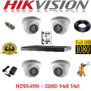 Lắp Đặt Trọn Bộ 4 Camera Hikvision 2.0Mp Lite (Hik-24300)-HIK-24300