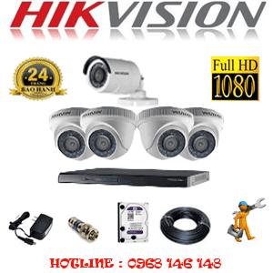 Lắp Đặt Trọn Bộ 5 Camera Hikvision 2.0Mp Lite (Hik-24314)-HIK-24314
