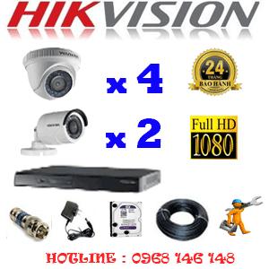 Lắp Đặt Trọn Bộ 6 Camera Hikvision 2.0Mp Lite (Hik-24324)-HIK-24324
