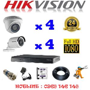 Trọn Bộ 8 Camera Hikvision 2.0Mp Lite (Hik-24344)-HIK-24344
