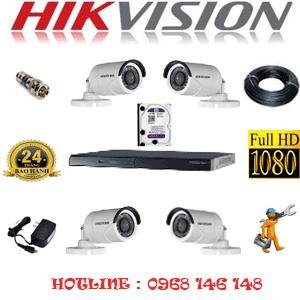 Lắp Đặt Trọn Bộ 4 Camera Hikvision 2.0Mp Lite (Hik-24400)-HIK-24400