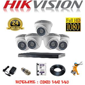 Lắp Đặt Trọn Bộ 5 Camera Hikvision 2.0Mp Lite (Hik-25300)-HIK-25300