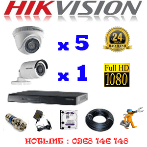 Lắp Đặt Trọn Bộ 6 Camera Hikvision 2.0Mp Lite (Hik-25314)-HIK-25314