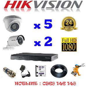 Trọn Bộ 7 Camera Hikvision 2.0Mp Lite (Hik-25324)-HIK-25324