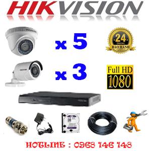 Lắp Đặt Trọn Bộ 8 Camera Hikvision 2.0Mp Lite (Hik-25334)-HIK-25334