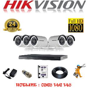 Trọn Bộ 5 Camera Hikvision 2.0Mp Lite (Hik-25400)-HIK-25400