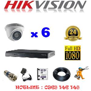 Lắp Đặt Trọn Bộ 6 Camera Hikvision 2.0Mp Lite (Hik-26300)-HIK-26300