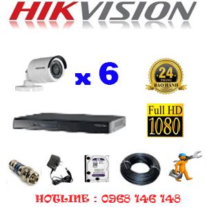 Lắp Đặt Trọn Bộ 6 Camera Hikvision 2.0Mp Lite (Hik-26400)-HIK-26400
